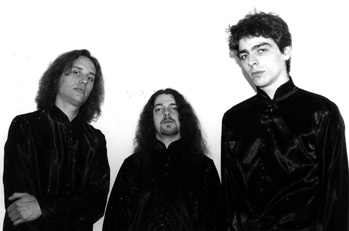 Imperial in 1999: Richard [drums], Qojau [guitars], and Skrow [bass/vocals]