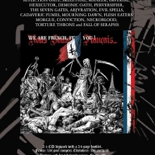 """""""We Are French, Fuck You !"""" flyer"""